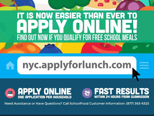 apply for school lunch